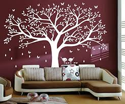 Amazon Com Lskoo Family Photo Frame Tree Wall Decals Family Tree Decal Living Room Home Decor 108 Wide X 84 Tall White Home Kitchen