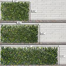 Greensmart Decor 40 In X 80 In Artificial Lemon Leaf Lattice Screen Mz 4126 The Home Depot In 2020 Lattice Screen Home Landscaping Artificial Foliage