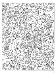 Paisley Abstract Doodle Zentangle Coloring Pages Colouring Adult
