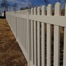 Weatherables Plymouth 4 Ft H X 8 Ft W Khaki Vinyl Picket Fence Panel Kit Pkpi 3r5 5 4x8 The Home Depot Picket Fence Panels Vinyl Picket Fence Wood Fence Design