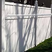 Esfun 6 Pack 2 X 6 Inch Vinyl Fence Hooks Patio Hooks White Powder Coated Steel Hangers Fits Easily For Indoor Outdoor Hanging Lights Plants Planters Bird Feeder Pool Equipment