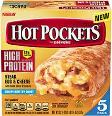 hot pockets high protein steak egg