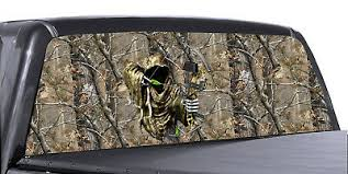 Grim Reaper Bow Hunter Camo Realtree Rear Window Decal Graphic For Truck Suv 64 95 Picclick