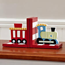 Amazon Com Solid Wood Chow Chow Train Bookend Kids Train Themed Chow Chow Train Bookends For Boys Nursery Or Bedroom Little Boy Gift Idea Red Baby