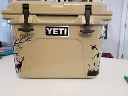 Yeti Roadie 20 Duck Decals Crooked Cuts Vinyl