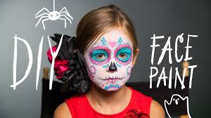 diy face paint sugar skull makeup for