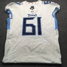 NFL Auction | London Games - Titans Aaron Stinnie Game Used Jersey  (10/21/18) Size 46