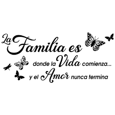 Wall Sticker Familia Es Donde La Vida Comienza Muraldecal Com
