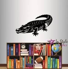 Vinyl Decal Crocodile Alligator Wild Animal Predator Removable Wall Sticker 608 Ebay
