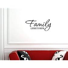 com family a journey to forever vinyl wall quotes sayings
