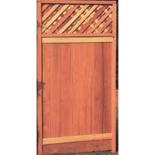 6 Ft H X 3 Ft W Natural Redwood Redwood Lattice Top Wood Fence Gate In The Wood Fence Gates Department At Lowes Com