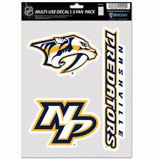 Nashville Predators 3 Decal Fan Pack Stickers Decals Sport Seasons Com Athletic Shoes Apparel And Team Gear Sport Seasons
