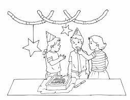 Kleuren Nu Verjaardagsfeestje Met Slingers Kleurplaten