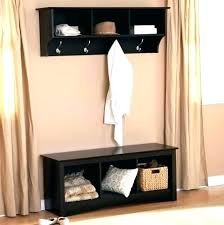 shoe storage bench black coat rack