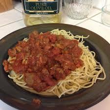 spaghetti sauce with ground beef sausage