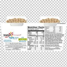 yoplait yoghurt nutrition facts label