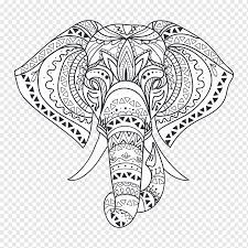 Book Black And White Wall Decal Mandala Elephant Canvas Canvas Print Interior Design Services Sticker Wall Decal Mandala Elephant Png Pngwing