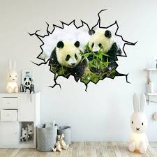 East Urban Home Panda Bear Hole Wall Decal Wayfair