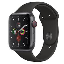Apple Watch Series 5 GPS + Cellular, 44mm Space Gray Aluminum Case ...
