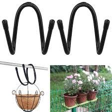 Flexible Adjustable Metal Hangers Great For Patio Balcony Porch Or Fence Iron Art Hanging Baskets Flower Pot Holder Ideal Hook Hooks Rails Aliexpress