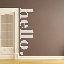 Amazon Com Battoo Hello Wall Decal Quotes Hello Door Decal Welcome Wall Stickers Hello Wall Sticker Hello Vinyl Decals Hello Vinyl Wall Art White 34 Wx10 H Home Kitchen