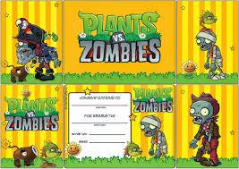 Plantas Vs Zombies Imagenes Tarjetas O Invitaciones Para