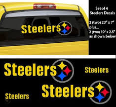 Pittsburgh Steelers Decals Stickers Car Window Set Of 4 145112235