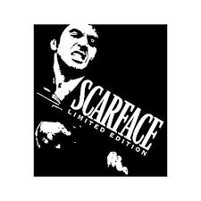 Scarface Vinyl Sticker Decal Wallart Famous Movie Film Al Pacino Tony Montana Vinyl Art Art Deco Fashion Scroll Saw Patterns