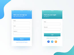 login page design by mojtaba mousavi