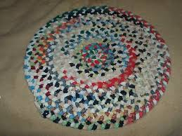 braided rug colorful round place mat