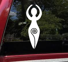 Amazon Com Spiral Goddess Vinyl Sticker Divine Feminine Pagan Symbol Die Cut Decal Clothing