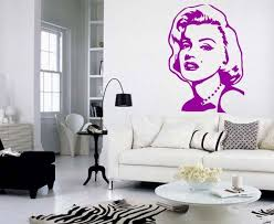 Marilyn Monroe Wall Decal Vinyl Decal Famous Monroe Etsy