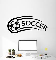 Vinyl Wall Decal Boys Room Soccer Sport Ball Sports Fans Stickers Mura Wallstickers4you