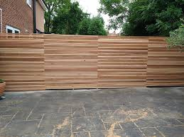 Our Western Red Cedar Fence Panels Are Slatted Screen Fencing Facebook