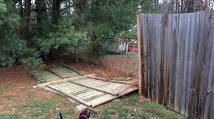 Repairing A Broken 6 Tall Wooden Stockade Fence Quickcrafter With Images Stockade Fence Fence Wooden