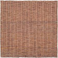 6ft Willow Fence Panels Fixed Natural Hurdle Garden Fencing Screening Border Ebay