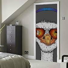 Vinyl Wall Decal Cartoon African Ostrich Head Big Bird Stickers 2742ig Muurversieringen Stickers Huis Workbenchprojects Com
