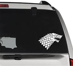 Amazon Com Gottalovestickerz House Stark Wolf Game Of Thrones Removable Vinyl Decal Sticker For Laptop Tablet Helmet Windows Wall Decor Car Truck Motorcycle Size 05 Inch 13 Cm Wide Color