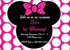 Free Editable Minnie Mouse Birthday Invitations Invitaciones