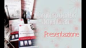 Presentazione Saga de Il Cimitero dei Libri Dimenticati & Prossime ...
