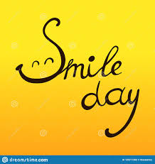 world smile day illustration hand written quote smile day