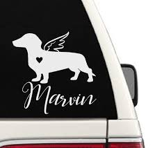 Amazon Com In Memory Of Dachshund Dog Car Decal Cd118 Handmade