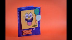Tarjeta Agitable De Bob Esponja Facil Spongebob Shaker Card Easy