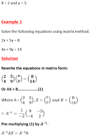 using matrices to solve simultaneous