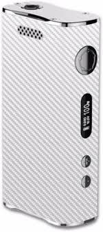 Amazon Com Skin Decal Vinyl Wrap For Eleaf Istick 100w Vape Mod White Carbon Fiber Graphite