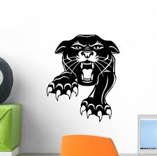 Panther Illustration Wall Decal Wallmonkeys Com