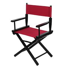 red orange black for directors chairs