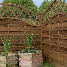 Wooden Fence Fencing Panels Pressure Treated Horizontal Weave Trellis4ft 5ft 6ft 59 99 Picclick Uk