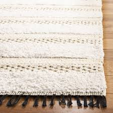 hand tufted cotton ivory beige area rug