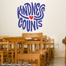 Kindness Counts Wall Decal Sticker Kindness Wall Decor Wall Lettering Wall Decals The Simple Stencil